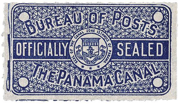 1917 dk blue, official seal, imperf