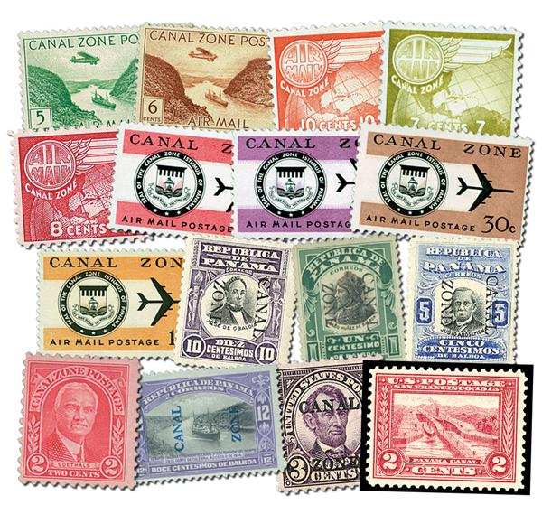 1925-75 Canal Zone Collection, 50 Mint, Used & Unused with small imperfections Stamp And FREE US 398, Used