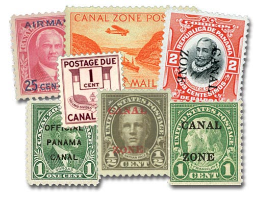 1904-78 Canal Zone Collection of 100 Stamps