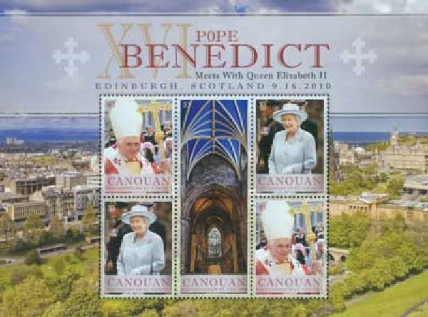 2010 Canouan Pope Benedict & Queen 4v M