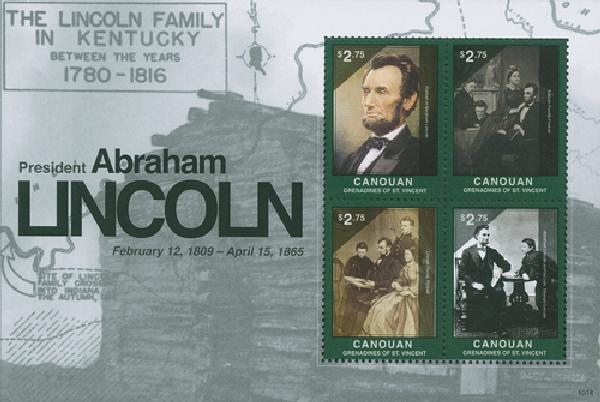 2010 Canouan Abe Lincoln 4v Mint