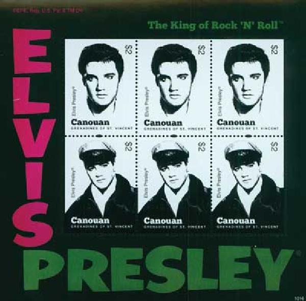 2010 Canouan Elvis Presley 6v Mint