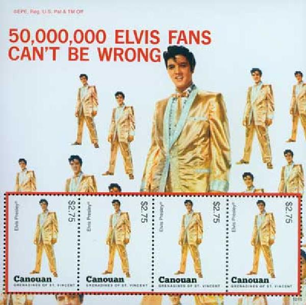 2010 Canouan Elvis Presley 4v Mint