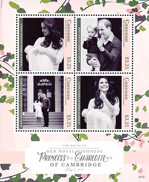 2015 $3.25 The Duchess of Cambridge with Princess Charlotte
