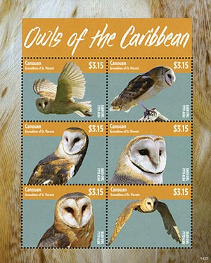 2014 $3.15 Owls of the Carribean