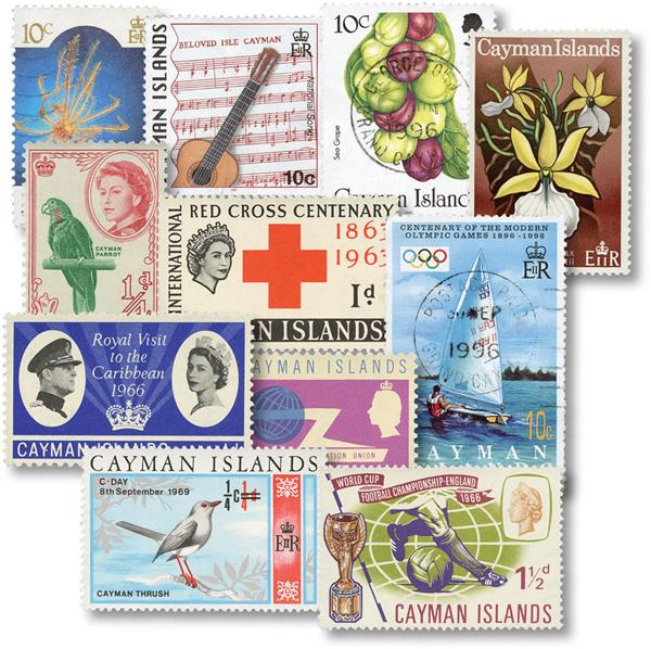 Cayman Islands 30 Different Stamps