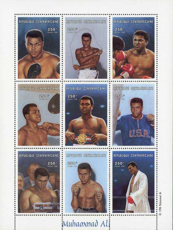 1998 Muhammad Ali 'The Champ' sheet of 9