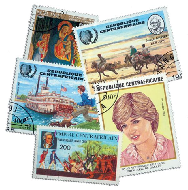 Central Africa, 100 Stamps