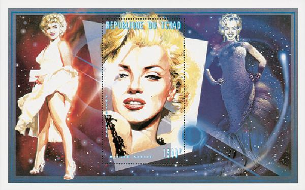 """1996 Chad #728 s/s """"Portrait of Marilyn"""""""