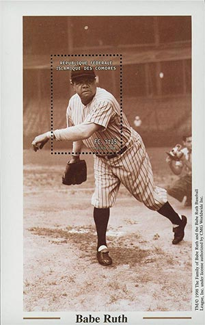1998 Babe Ruth Throwing the Ball s/s