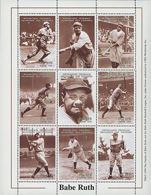 1998 Photos of Babe Ruth Playing Ball-9v