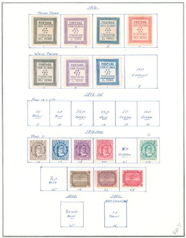 1892-1938 Cook Islands