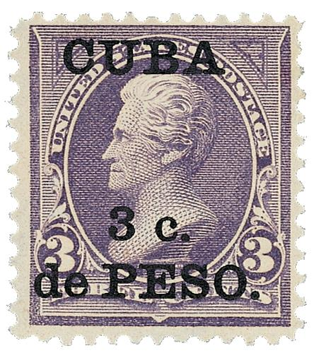 1899 3c on 3c purple, Cuba