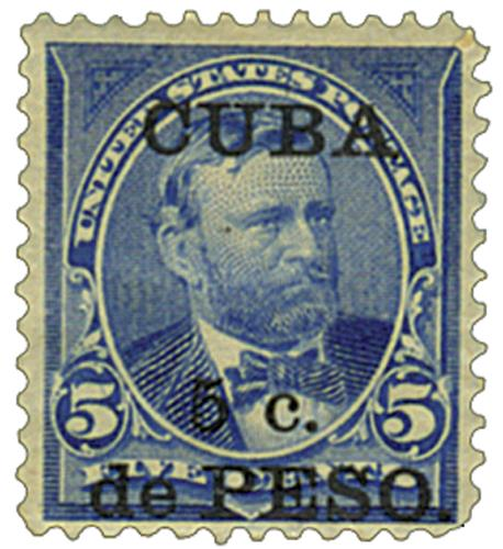 U.S. #CU225 – U.S. #281 stamp overprinted for use in Cuba.