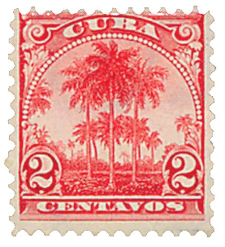 1899 2c carmine, Royal Palms