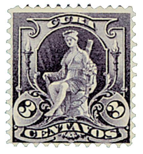 """1899 3c purple, Allegory """"Cuba"""""""