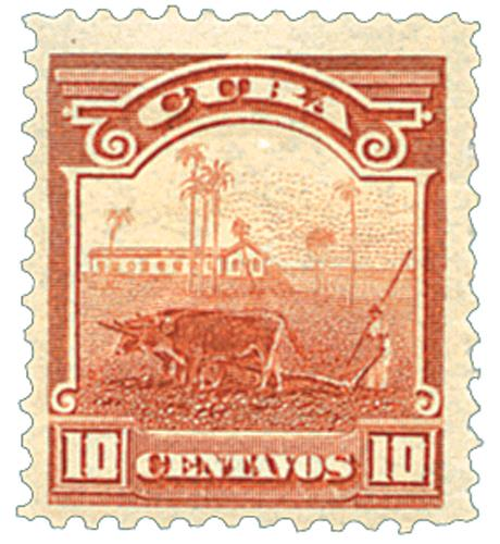 1899 10c brown, Cane Field