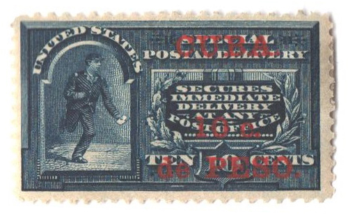 1899 10c on 10c bl, Cuba, sp deliv.