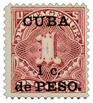 1899 1c on 1c dp cl, Cuba, post due