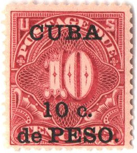 1899 10c on 10c dp cl,Cuba, post due