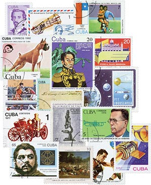 130 Used Cuba Stamps, selection may vary