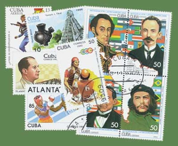 Item #M7033 – In recent years, restrictions were limited, allowing us to get used Cuba stamps.