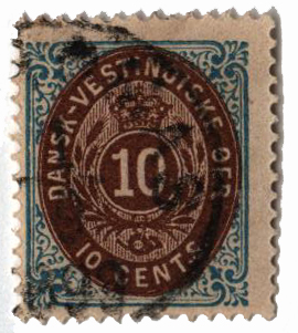 1876 10c blue & brown,