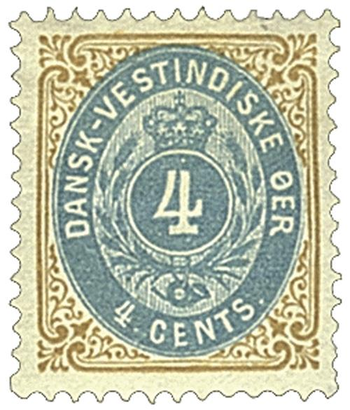 1896-1901 4c Danish West Indies,bister