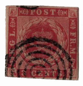 1872 3c Danish West Indies, rose