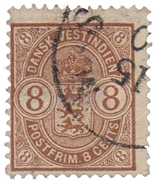 1903 8c Danish West Indies,brown