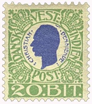 1905 20b Danish West Indies,green&blue