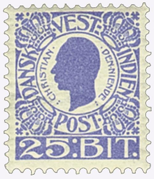 1905 25b Danish West Indies,ultramarine