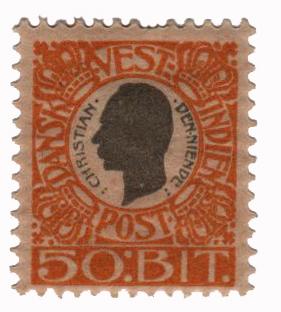 1905 50b Danish West Indies,yellow&gray