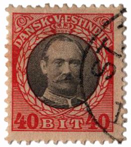 1908 40b Danish West Indies,verm&gray