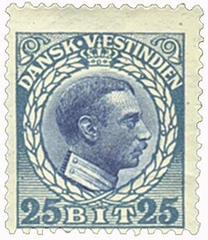 1915 25b Danish West Indies,blue&dk blue