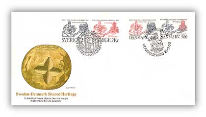 1985 Sweden/Denmark Joint Issue FDC St.Cnut