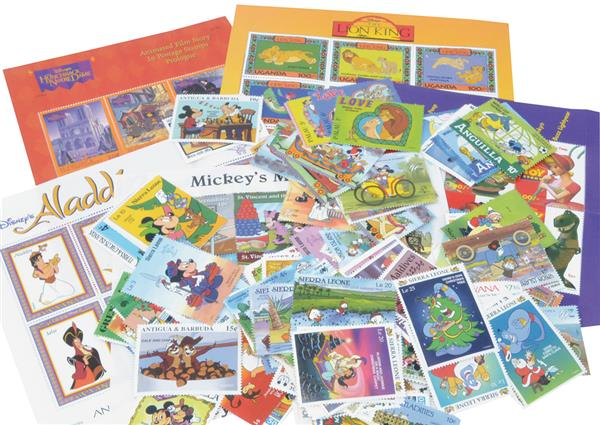 200 Mint Disney Stamps