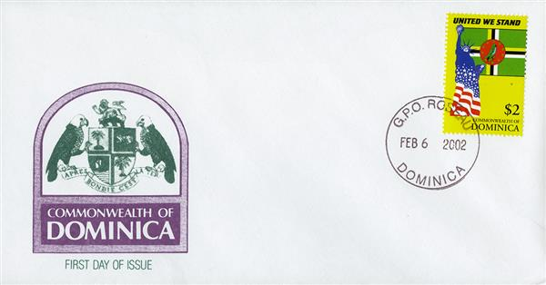 2002 Dominica United We Stand FDC