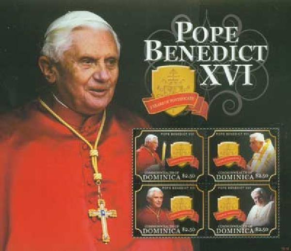2010 Dominica Pope Benedict XVI 4v M