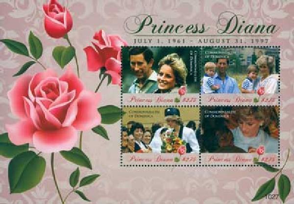 2010 Dominica Princess Diana 4v M