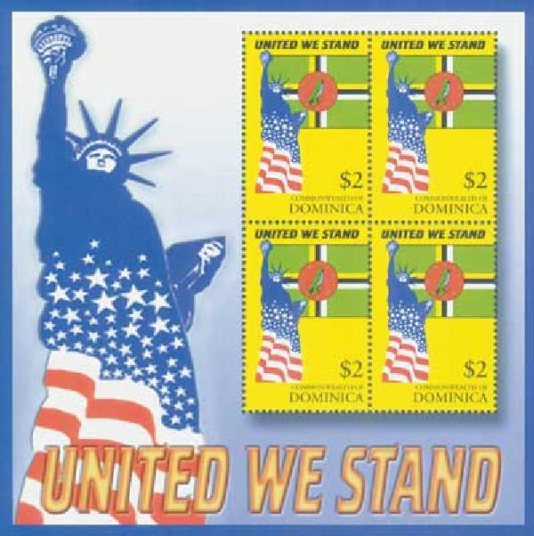 Dominica, $2 United We Stand, S/S, mint