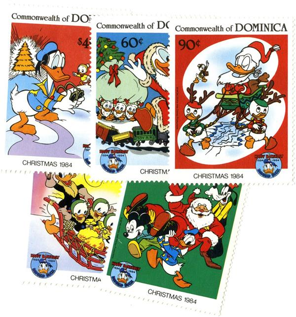 Dominica 1984 Donalds movies, 5 Stamps