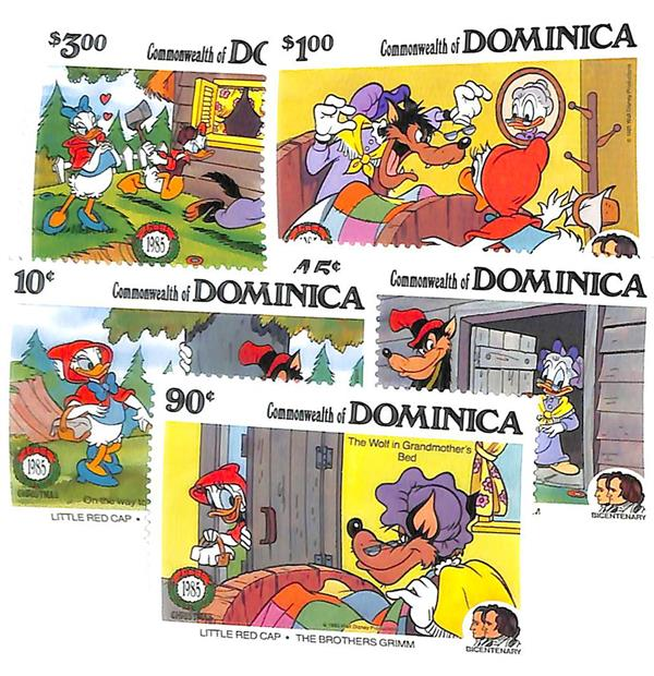 Dominica 1985 Little Red Cap, 5 Stamps
