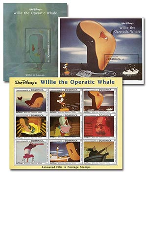"Dominica 1993 ""Willie the Opera Whale"""
