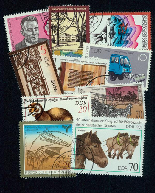 East Germany 300 stamps, Used