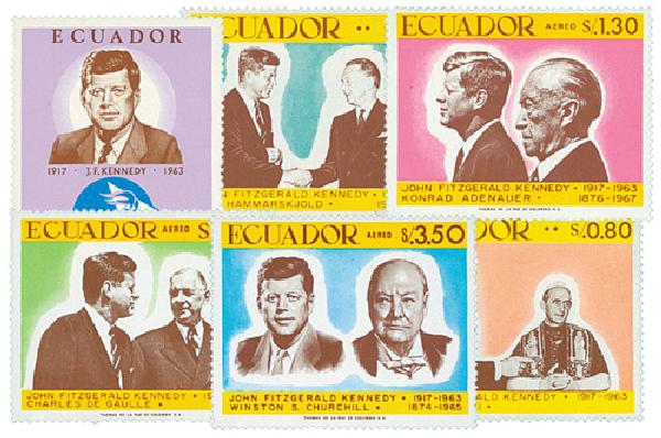 1967 Ecuador 764-64E World Leaders (JFK)