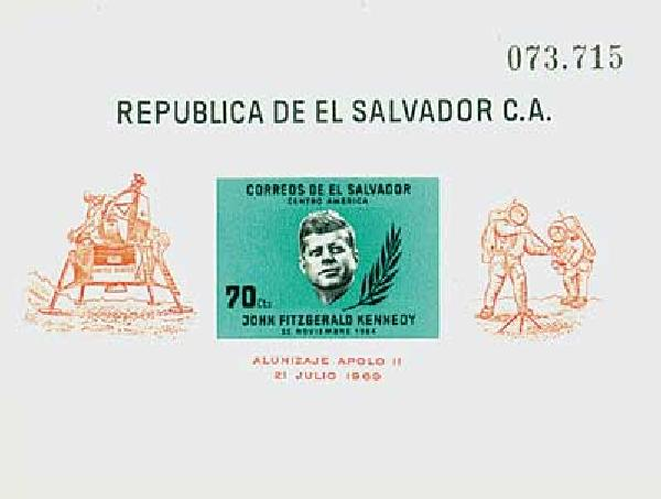 1964 El Salvador 750 s/s JFK Space Explo