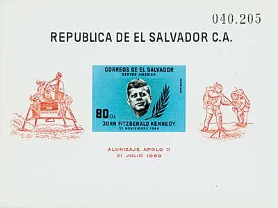1964 El Salvador C214 s/s JFK Space blue