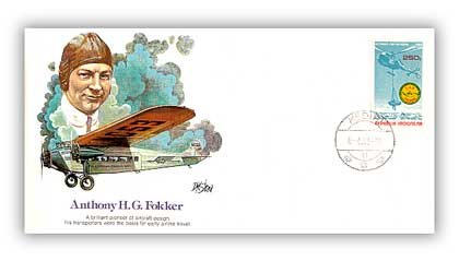 1980 Pioneer of Flight - Anthony H. Fokker Commemorative Cvr