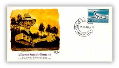 1980 Pioneer of Flight - Santos-Dumont Commemorative Cover